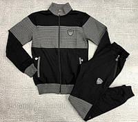Спортивный костюм Emporio Armani EA7 D7623 серо-черный
