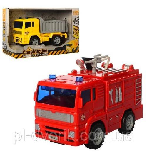 Машина 661-01C-02 (Инер-Й, 15,5см, 2в(Пожарн/Самосвал), В Кор-Ке, 22-14-10см