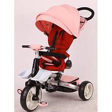 Детский трёхколёсный велосипед Crosser roza T 600