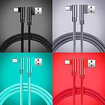 Кабель Micro USB Suntaiho с угловыми разъемами для зарядки и передачи данных, фото 2
