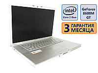 Ноутбук Apple A1261 15.4 (1680x1050) / Intel Core 2 Duo T8300 (2x2.4GHz) / GeForce 8600M GT / RAM 4Gb / HDD 250Gb/АКБ до 2х часов /Сост. 9/10 Б