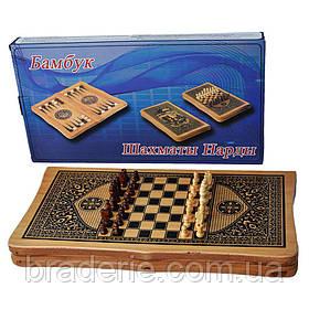 Ігровий набір 2 в 1 Нарди і Шахи B4825