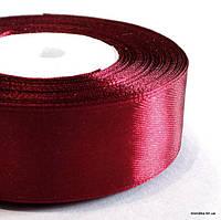 Лента атласная, 2.5 см, Цвет: Бордовый (5 метров/уп.)