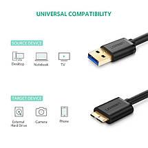 Kабель USB 3.0 - Micro USB Тип B Ugreen US130 (Черный), фото 2