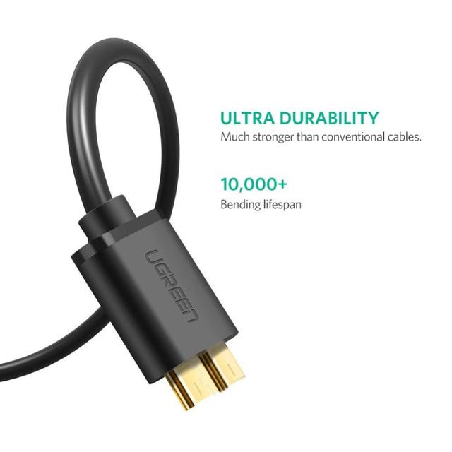 Kабель USB 3.0 - Micro USB Тип B Ugreen US130 10840 10841 10843 0.5м 1м 2м