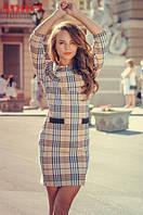 Платье мини в стиле барбери, фото 1