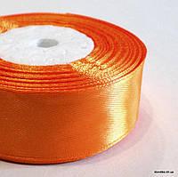 Лента атласная, 2.5 см, Цвет: Оранжевый 2 (5 метров/уп.)