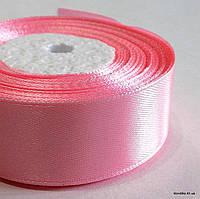 Лента атласная, 2.5 см, Цвет: Розовый (5 метров/уп.)