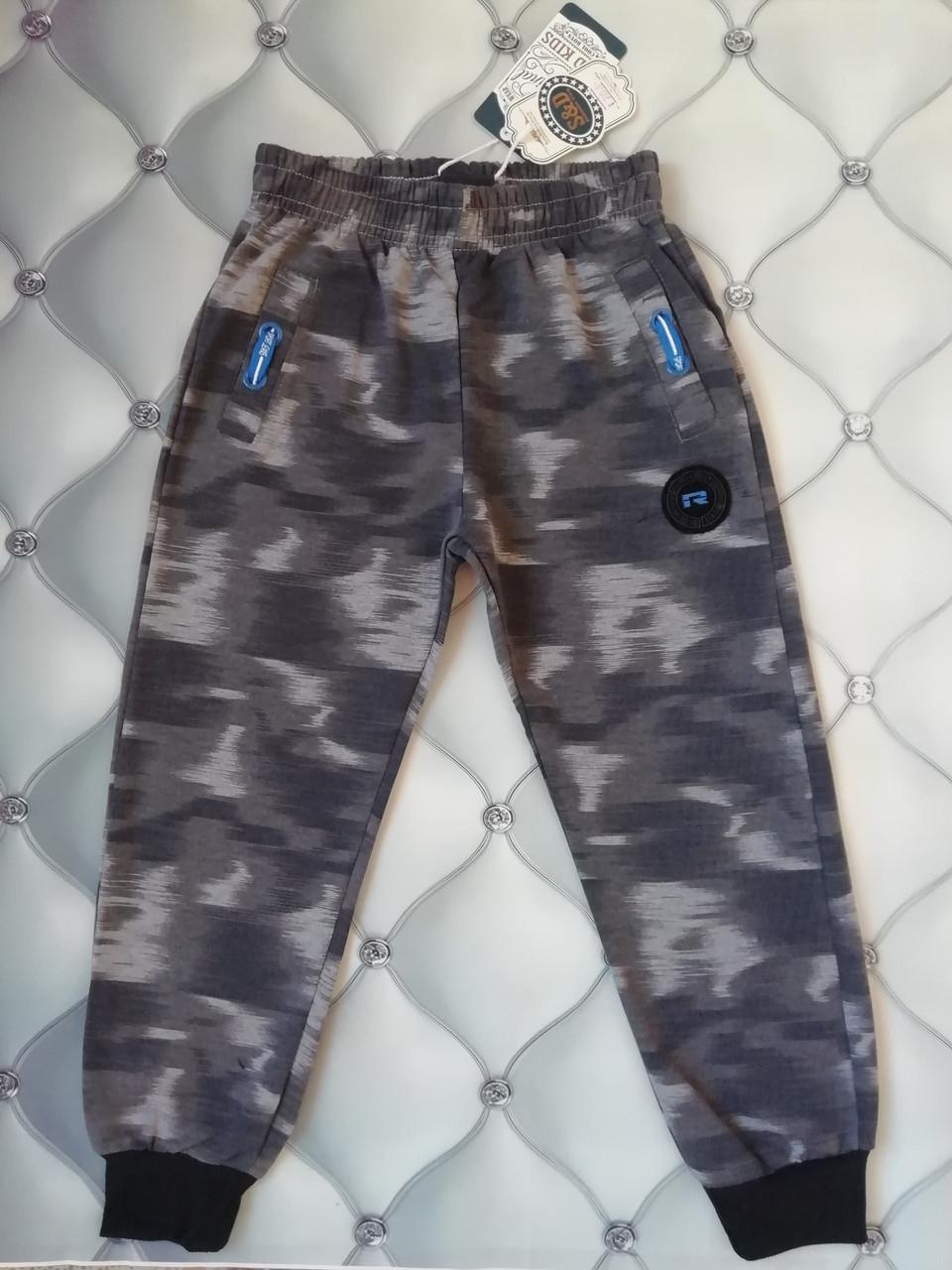 Спортивные штаны мальчику  под Хаки серый, рр.  122
