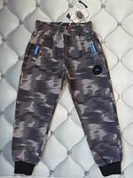Спортивные штаны мальчику  под Хаки серый, рр.  122, фото 1