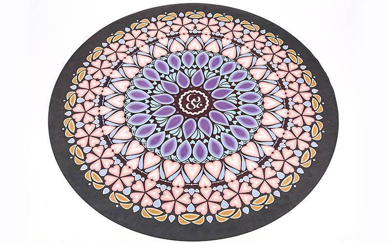 Килимок для йоги замшево-каучуковий 3мм двухслойныйFI-6218-6 (діаметр 150см)