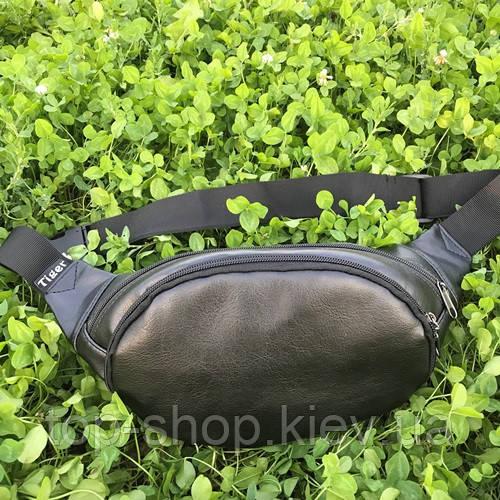 Стильная сумка на пояс бананка мужская и женская экокожа tiger унисекс