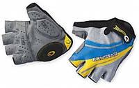 Перчатки EXUSTAR CG130 серо-желто-синие, гель, М