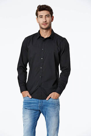 Рубашка мужская черная, фото 2