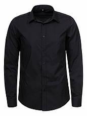Рубашка мужская черная, фото 3