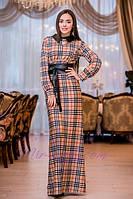 Платье в пол (цвет барбери), фото 1