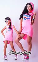 Спортивное стильное платье мама+дочка (дочке)