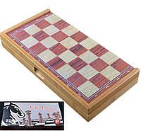 Игра настольная 3 в 1 Нарды, Шахматы, Шашки X-409