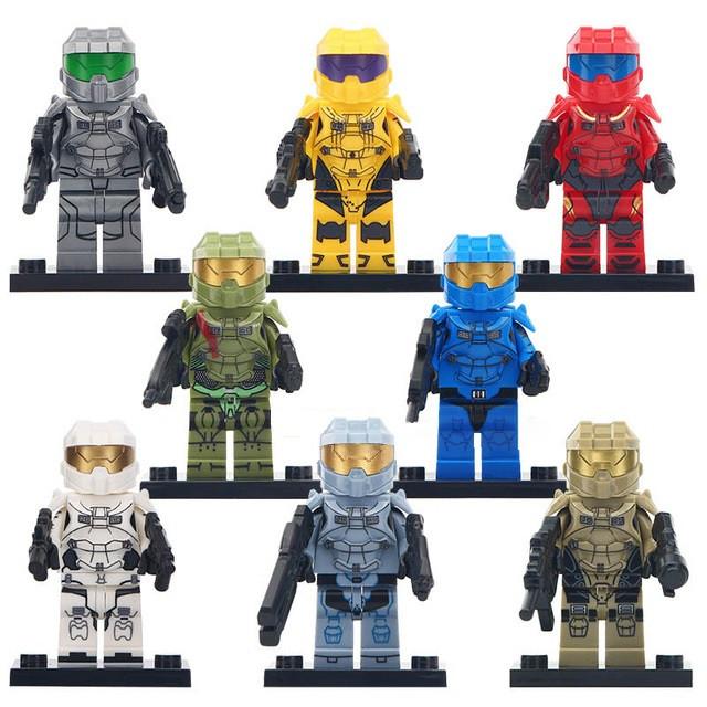 Фигурки Halo Wars лего Lego Хало солдаты военные спецназ swat