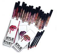 Жидкая матовая помада + карандаш для губ 2 в 1 Kylie 8611  (Только упаковкой 8 шт.), фото 1