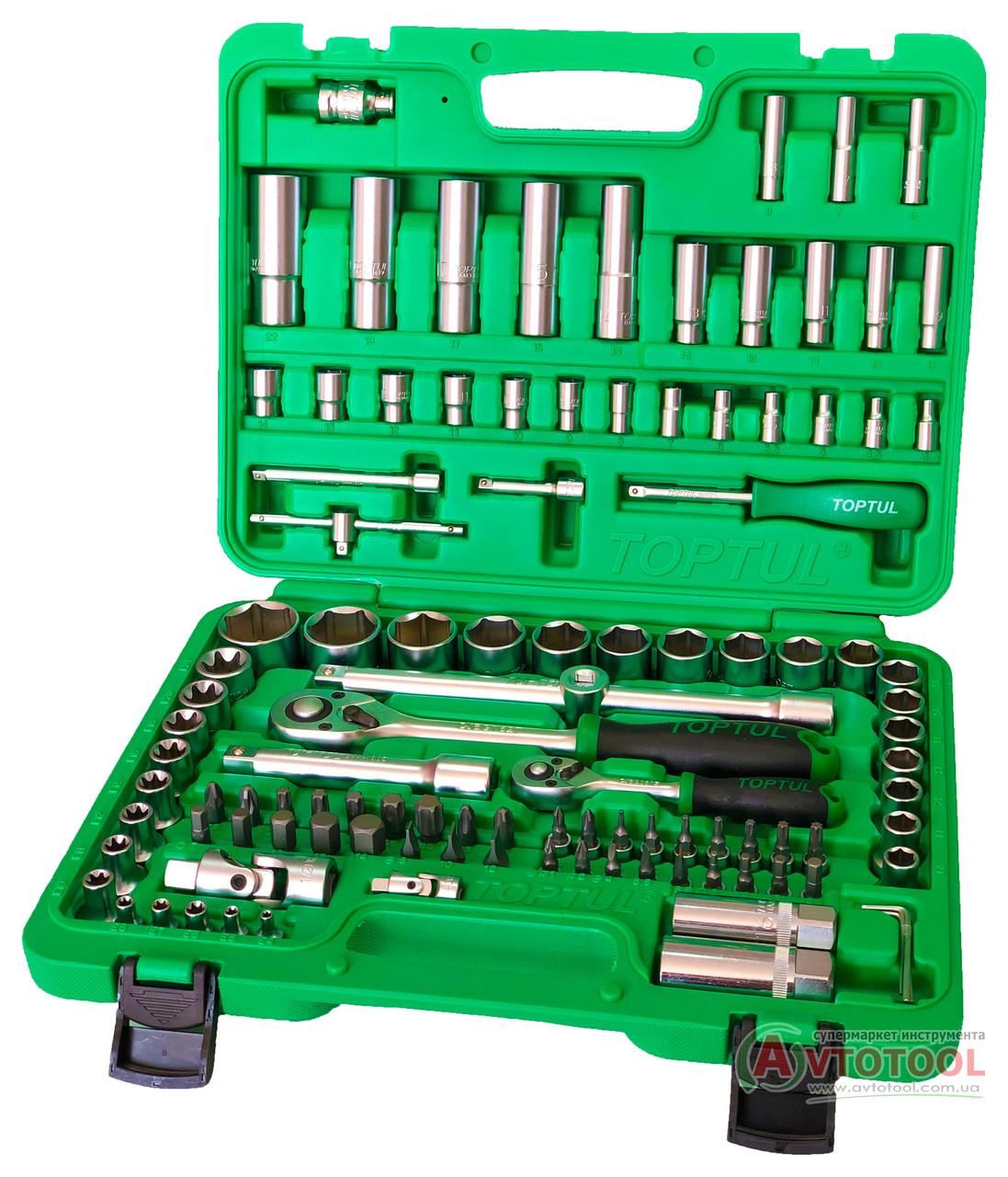 """Набор инструмента 1/4""""&1/2"""" 108 ед. (6-гр.) new box, GCAI108R TOPTUL"""