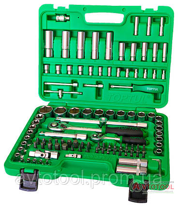 """Набор инструмента 1/4""""&1/2"""" 108 ед. (6-гр.) new box, GCAI108R TOPTUL, фото 2"""