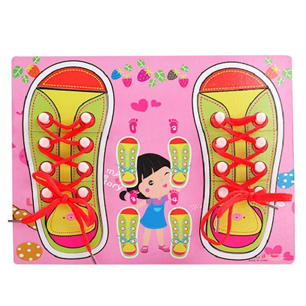 Деревянная игрушка Шнуровка M00956(Pink) обувь