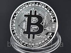 Сувенірна монета Биткоин Срібний