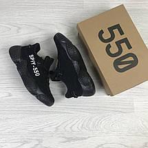 Женские кроссовки черные текстильные простые и удобные, фото 3