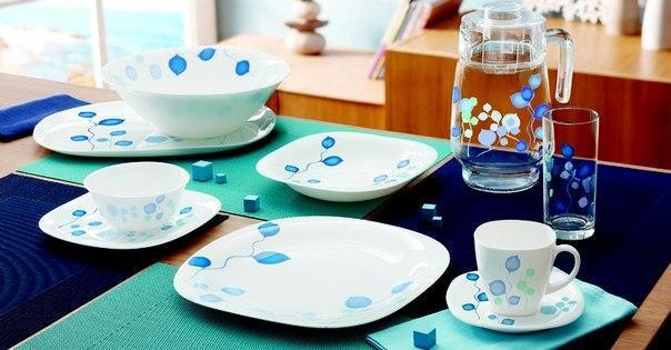 Misty Blue Сервиз столовый 46 пр. Luminarc H7220