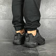 Мужские кроссовки черные 8213, фото 2