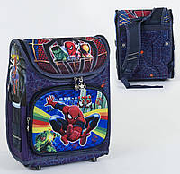Рюкзак школьный каркасный С 36173, 1 отделение, 3 кармана, спинка ортопедическая, 3D принт