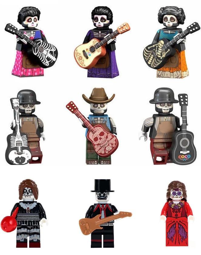 Фигурки Лего Lego Тайна Коко День мёртвых Росита Фелипе Мигель