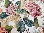Платок шелковый (крепдешин) 10124-13, павлопосадский платок (крепдешин) шелковый с подрубкой, фото 4