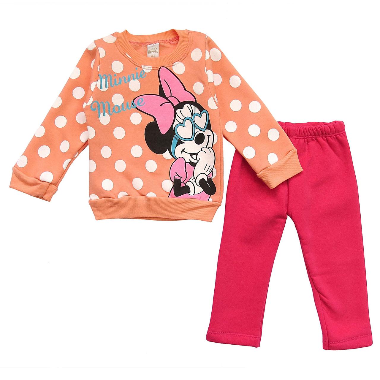 Теплый костюм Minnie Mouse для девочки.