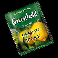 """Чай черный пакетированный Greenfield """"Lemon Spark"""" Лимон 100шт (полиэтиленовый пакет)"""