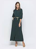 Зеленое длинное платье из мягкого софта 44 46