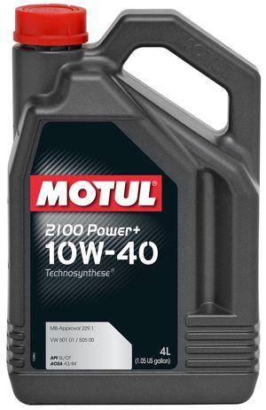 Моторное масло полусинтетика 10W40 Motul 2100 Power+ SAE 10W-40 ( 4л )
