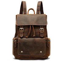 Рюкзак Vintage 14668 кожаный, коричневый
