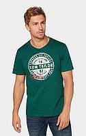 Мужская зелёная футболка TOM TAILOR TT 10128330010 10413