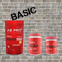 Комплект Набор мышечной массы BASIC (гейнер, аминокислоты, витаминный комплекс)