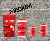 Комплект Набор мышечной массы MEDIUM (протеин, креатин, комплексный витамин, бустер тестостерона)