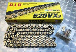 Приводная цепь DID 520VX3 G&B - 110ZB