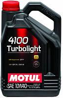 МОТОРНОЕ МАСЛО ПОЛУСИНТЕТИКА Motul 4100 Turbolight 10W40 (5л)