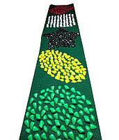 """Коврик массажный """"Ортопед"""" 200*40 см с фигурами Зеленый ковролин"""