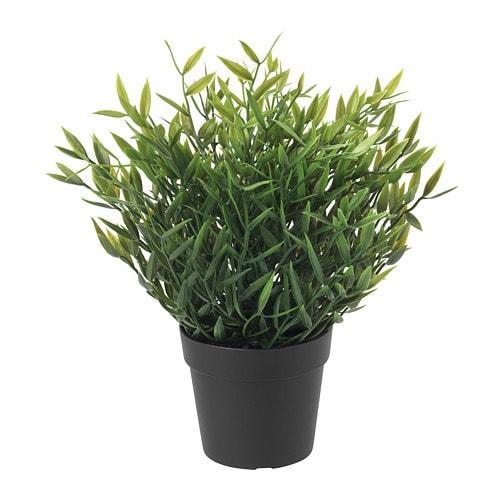 ИКЕА (IKEA) ФЕЙКА, 604.339.39, Искусственное растение в горшке, внутрь / снаружи бамбукового дома, 9 см - ТОП ПРОДАЖ