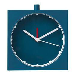 ИКЕА (IKEA) BAJK, 903.736.46, Будильник, темно-синий, 10x10 см