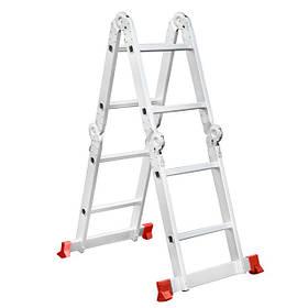 Лестница алюминиевая мультифункциональная трансформер 4*2 ступ. 2.50м (LT-0028 Intertool)