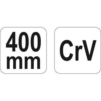 Ричаг для шиномонтажа, l= 400 мм, YT-0808 YATO, фото 2