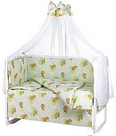 Детская постель Qvatro Gold RG-08 рисунок  салатовая (мишки), фото 1